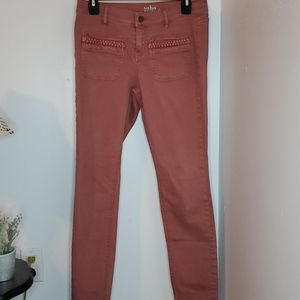 🔥 3/$25 New York & Co. Pink Legging Jeans size 6